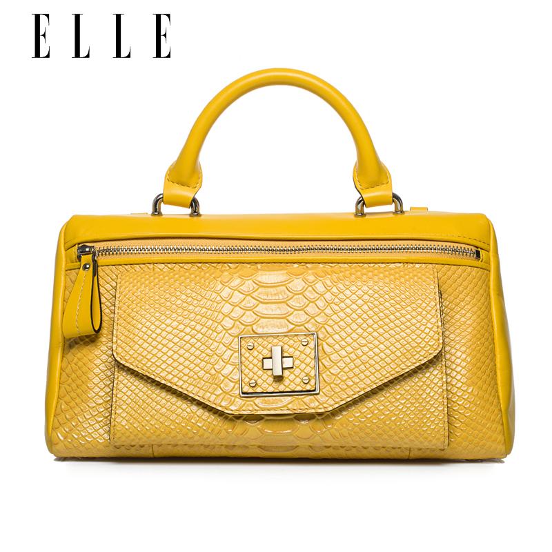 ELLE蛇纹牛皮女包款50803手提包单 1