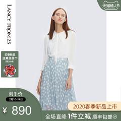 朗姿真丝连衣裙 20