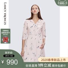 朗姿真丝连衣裙 9