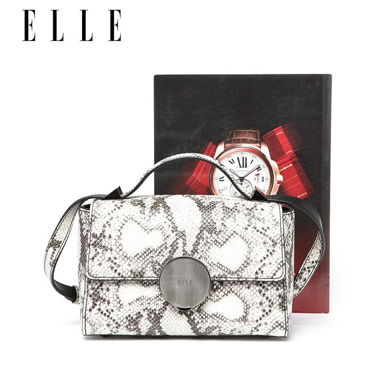 ELLE女包70589牛皮蛇纹手提方形包 1